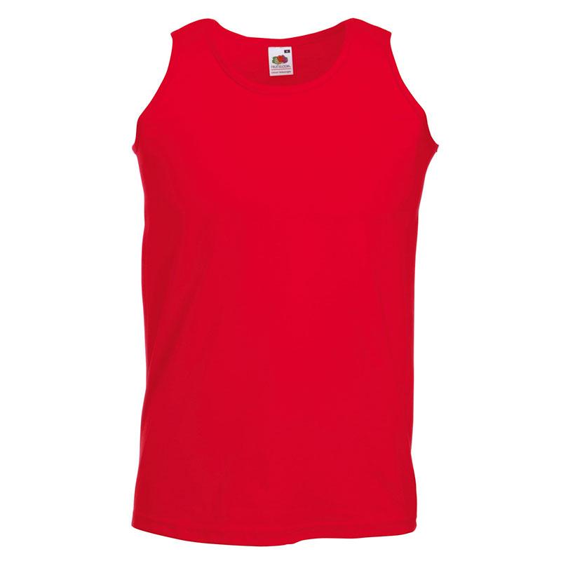 165gsm 100% Cotton, Belcoro® Yarn Athletic Vests - SAVA-red
