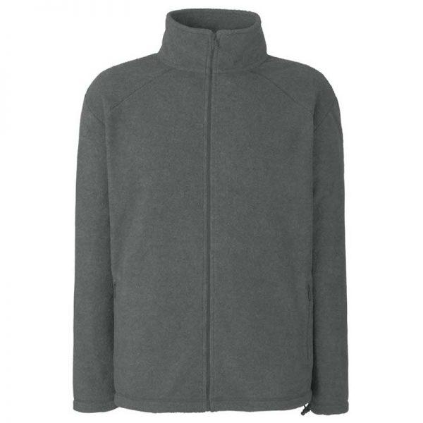 300g 100% Polyester Full Zip Fleece - SFFZA-Smoke