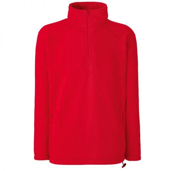 300g 100% Polyester Half Zip Fleece - SFHZA-red