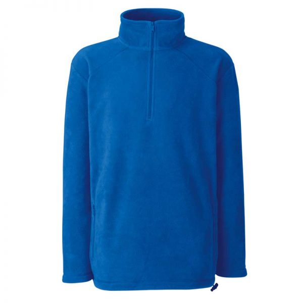 300g 100% Polyester Half Zip Fleece - SFHZA-royal2