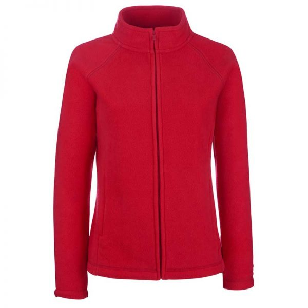 300g 100% Polyester Lady-Fit Outdoor Fleece - SFL-red