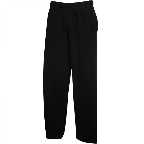 280gsm 80/20 CP Adults Open Hem Jog Pants - SJOA-black