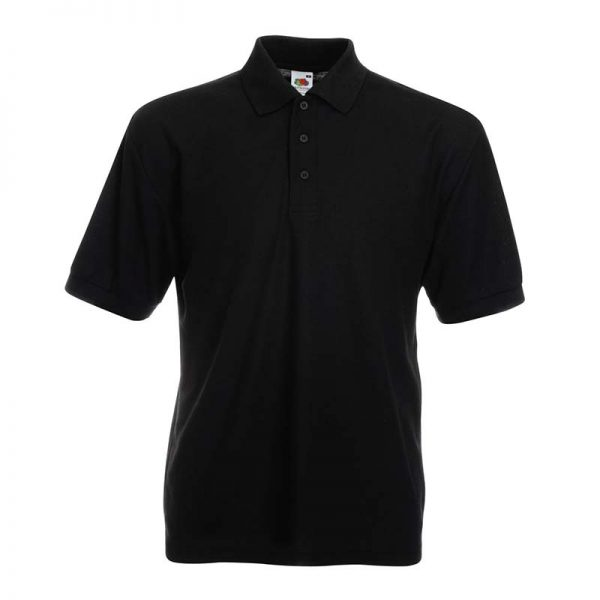 180gsm 65/35 PC Basic Polo - SPA-black