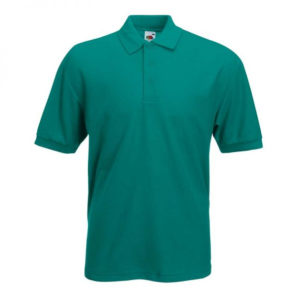 180gsm 65/35 PC Basic Polo - SPA-emerald