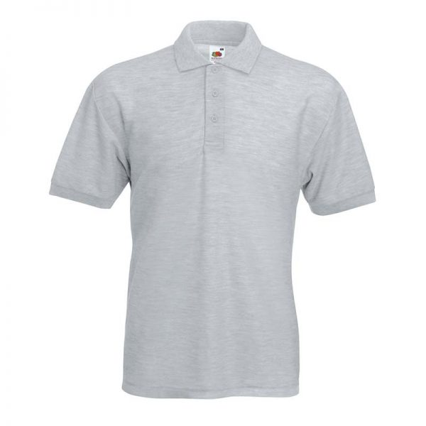 180gsm 65/35 PC Basic Polo - SPA-heather-grey