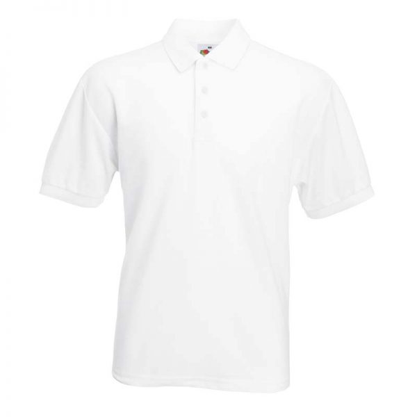 180gsm 65/35 PC Basic Polo - SPA-white
