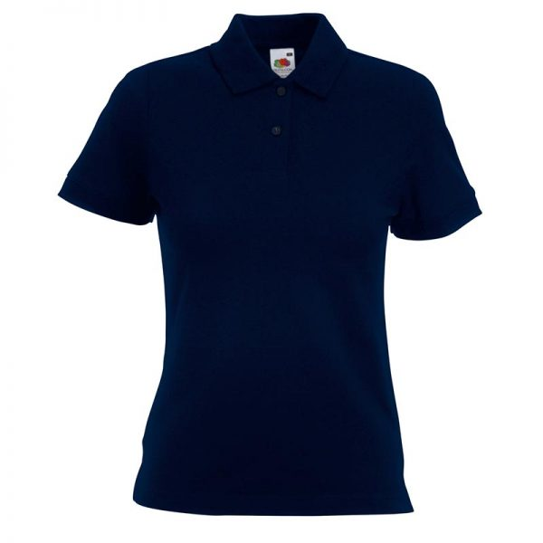 220gsm 97/3 CE Stretch-Cotton Lady-Fit Pique Polo Shirt - SPL-dark-navy