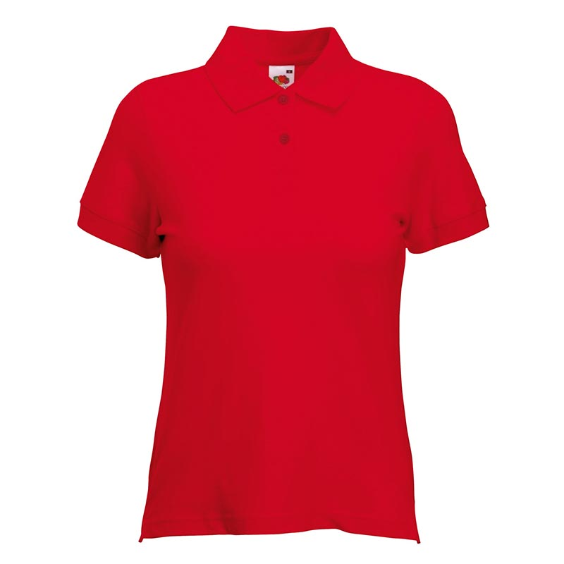 220gsm 97/3 CE Stretch-Cotton Lady-Fit Pique Polo Shirt - SPL-red