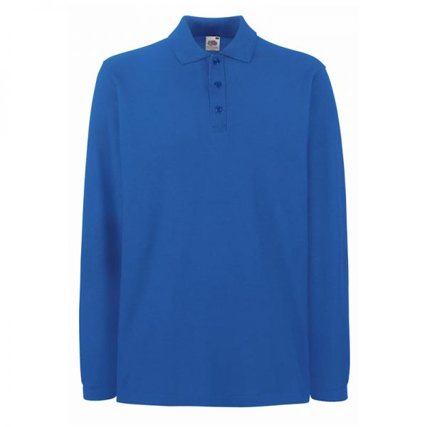 180gsm 100% Cotton Long Sleeve Premium Polo Shirt - SPLPA-royal