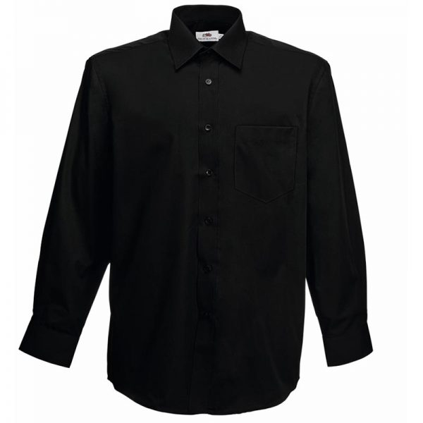 120g 55/45 CP Poplin Shirt Long Sleeve - SSHLPA-black