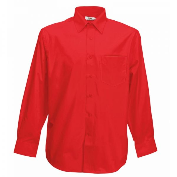 120g 55/45 CP Poplin Shirt Long Sleeve - SSHLPA-red