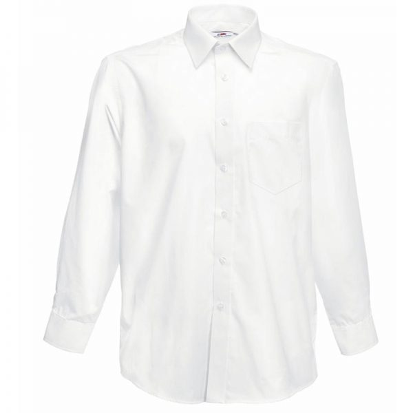 120g 55/45 CP Poplin Shirt Long Sleeve - SSHLPA-white