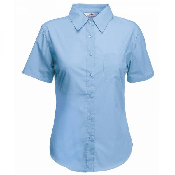 120g 55/45 CP Ladies Poplin Shirt Short Sleeve - SSHSPL-sky