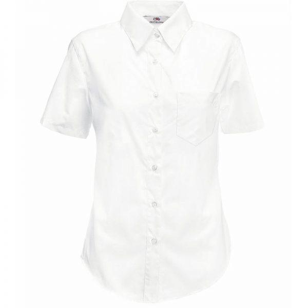 120g 55/45 CP Ladies Poplin Shirt Short Sleeve - SSHSPL-white