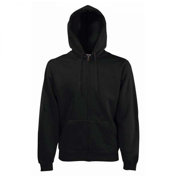 280g 70/30 CP Hooded Sweat Premium Jacket - SSHZA-black