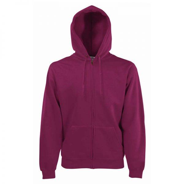280g 70/30 CP Hooded Sweat Premium Jacket - SSHZA-burgundy