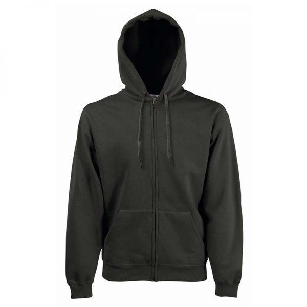 280g 70/30 CP Hooded Sweat Premium Jacket - SSHZA-charcoal