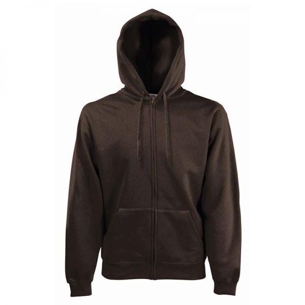 280g 70/30 CP Hooded Sweat Premium Jacket - SSHZA-chocolate