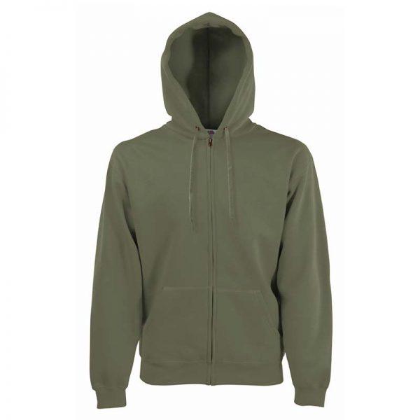 280g 70/30 CP Hooded Sweat Premium Jacket - SSHZA-classic-olive