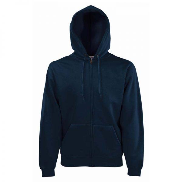 280g 70/30 CP Hooded Sweat Premium Jacket - SSHZA-deep-navy