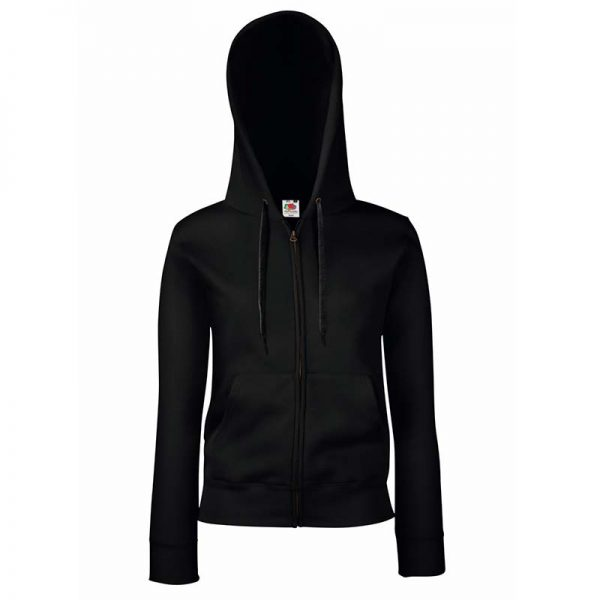 280g Ladies 70/30 CP Lady-Fit Hooded Sweat Premium Jacket - SSHZL-black