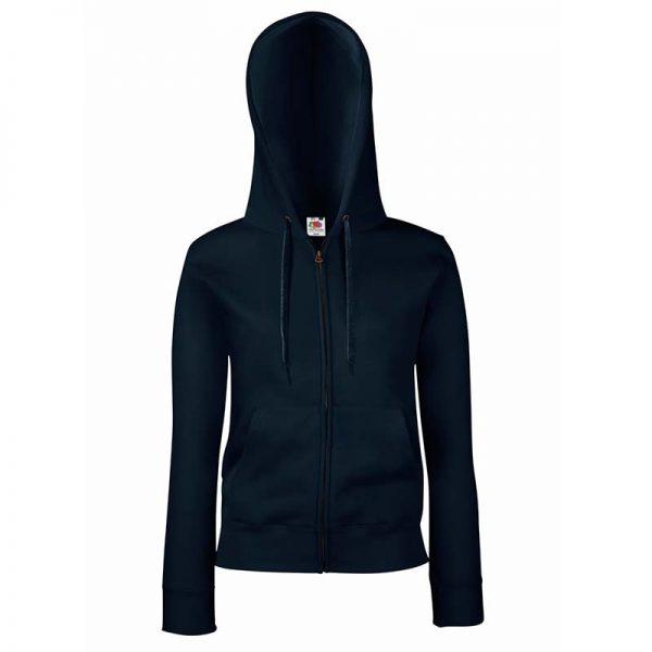 280g Ladies 70/30 CP Lady-Fit Hooded Sweat Premium Jacket - SSHZL-dark-navy