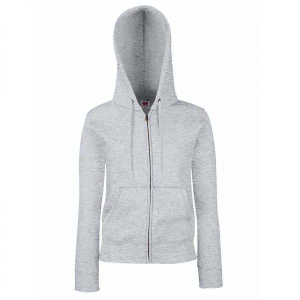 280g Ladies 70/30 CP Lady-Fit Hooded Sweat Premium Jacket - SSHZL-heather