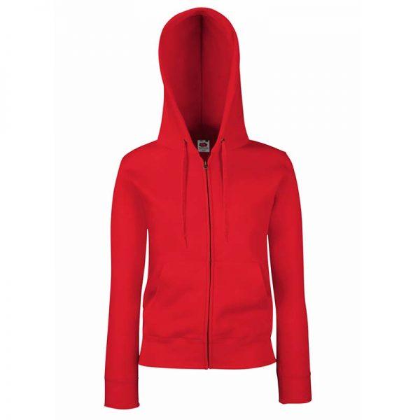 280g Ladies 70/30 CP Lady-Fit Hooded Sweat Premium Jacket - SSHZL-red