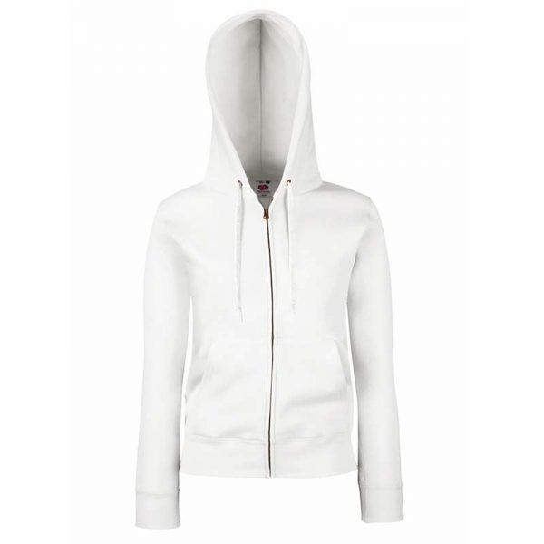 280g Ladies 70/30 CP Lady-Fit Hooded Sweat Premium Jacket - SSHZL-white