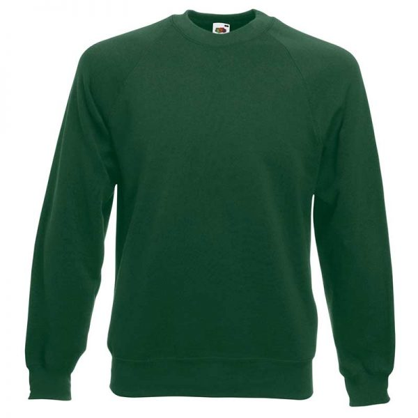 280gsm 80/20 CP Classic Raglan Crew Sweat Long Sleeve - SSRA-bottle-green
