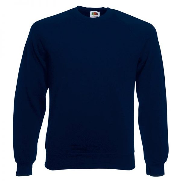 280gsm 80/20 CP Classic Raglan Crew Sweat Long Sleeve - SSRA-deep-navy