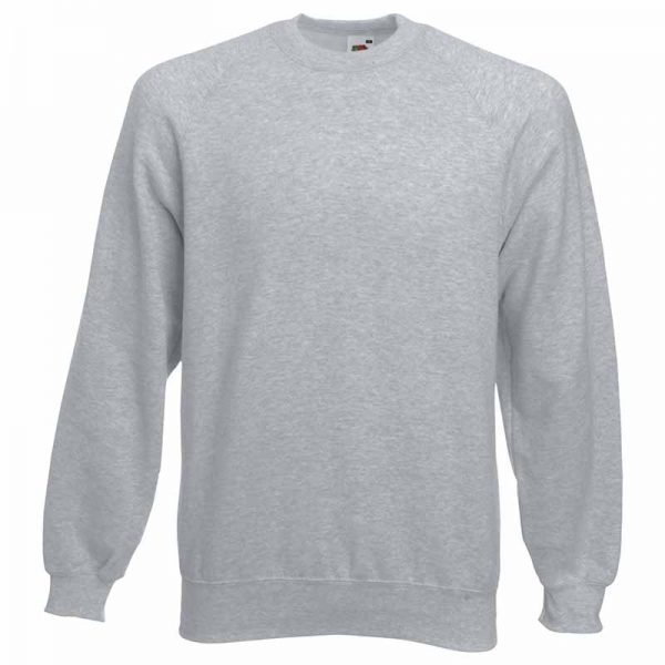 280gsm 80/20 CP Classic Raglan Crew Sweat Long Sleeve - SSRA-heather