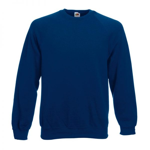 280gsm 80/20 CP Classic Raglan Crew Sweat Long Sleeve - SSRA-navy