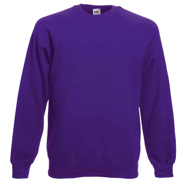 280gsm 80/20 CP Classic Raglan Crew Sweat Long Sleeve - SSRA-purple