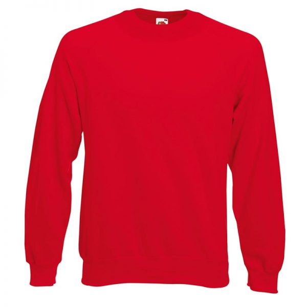 280gsm 80/20 CP Classic Raglan Crew Sweat Long Sleeve - SSRA-red