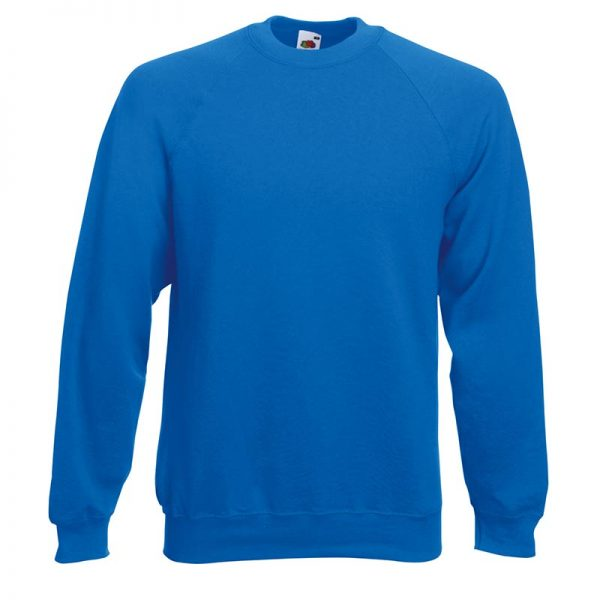 280gsm 80/20 CP Classic Raglan Crew Sweat Long Sleeve - SSRA-royal