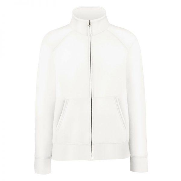 280g 70/30 CP Lady-Fit Premium Sweat Jacket - SSZL-white