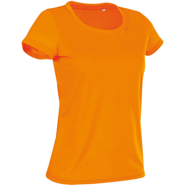 160g 100% ACTIVE-DRY Polyester, Cotton Touch Ladies ACTIVE Sports T Short Sleeve - ST8700-cyber-orange