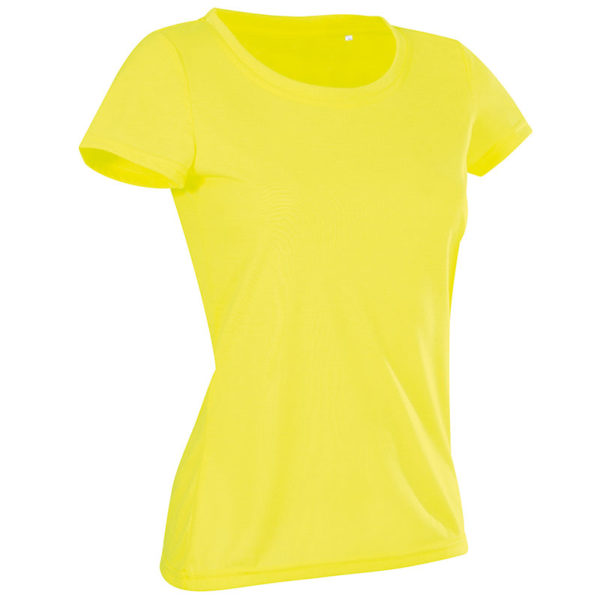 160g 100% ACTIVE-DRY Polyester, Cotton Touch Ladies ACTIVE Sports T Short Sleeve - ST8700-cyber-yellow