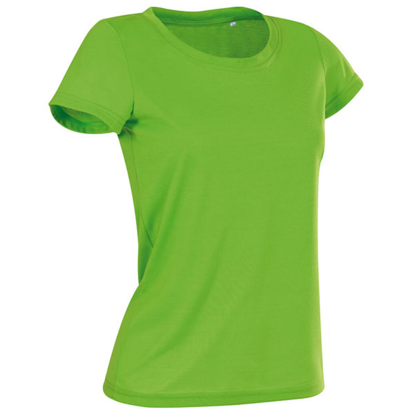 160g 100% ACTIVE-DRY Polyester, Cotton Touch Ladies ACTIVE Sports T Short Sleeve - ST8700-kiwi