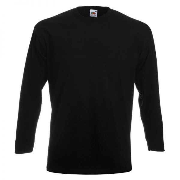 205g 100% Cotton, Belcoro® Yarn Super Premium Long Sleeve T - STPLA-black