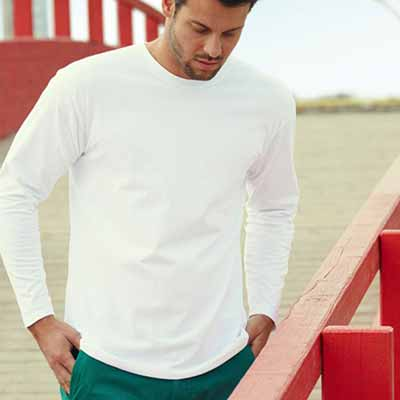 205g 100% Cotton, Belcoro® Yarn Super Premium Long Sleeve T - STPLA