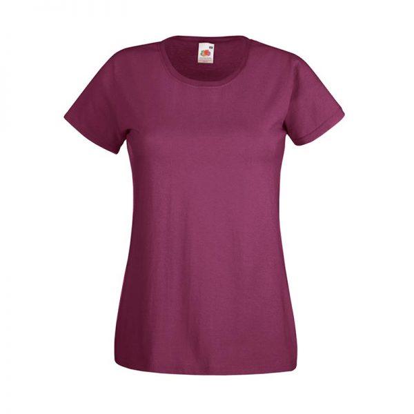 165gsm 100% Cotton, Belcoro® Yarn Lady-Fit Valueweight Crew Neck T Short Sleeve -STVL-burgundy