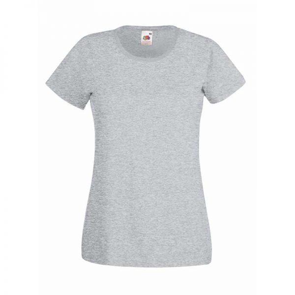 165gsm 100% Cotton, Belcoro® Yarn Lady-Fit Valueweight Crew Neck T Short Sleeve -STVL-heathr-grey