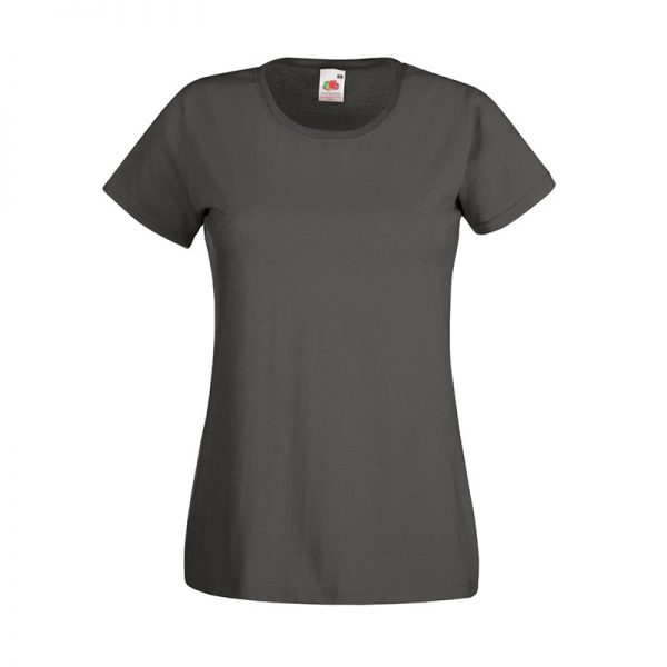 165gsm 100% Cotton, Belcoro® Yarn Lady-Fit Valueweight Crew Neck T Short Sleeve -STVL-light-graphite