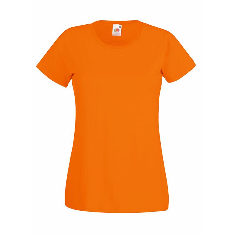 165gsm 100% Cotton, Belcoro® Yarn Lady-Fit Valueweight Crew Neck T Short Sleeve -STVL-orange