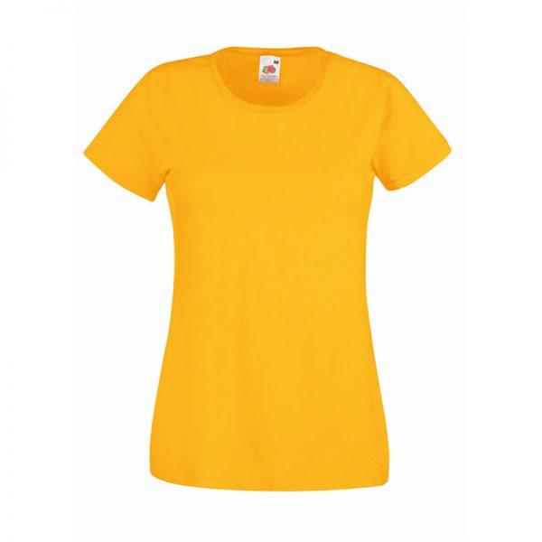 165gsm 100% Cotton, Belcoro® Yarn Lady-Fit Valueweight Crew Neck T Short Sleeve -STVL-sunflower