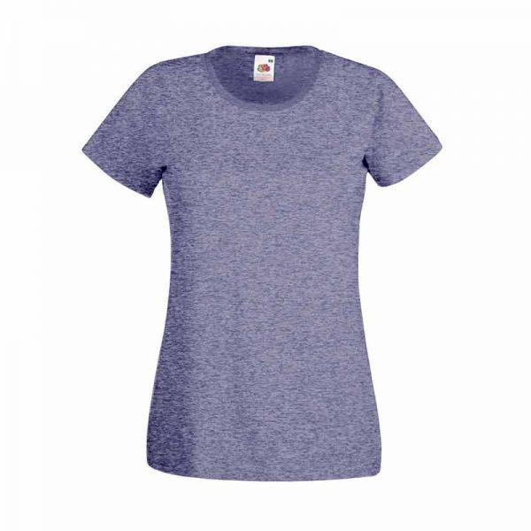 165gsm 100% Cotton, Belcoro® Yarn Lady-Fit Valueweight Crew Neck T Short Sleeve -STVL-vintage-heathr-navy