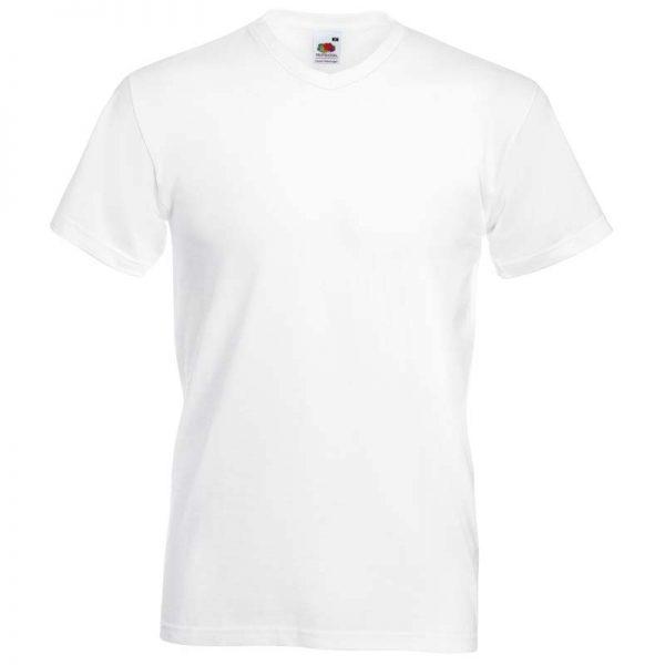 165g 100% Cotton, Belcoro® Valueweight V-neck T Short Sleeve - STVNA-white