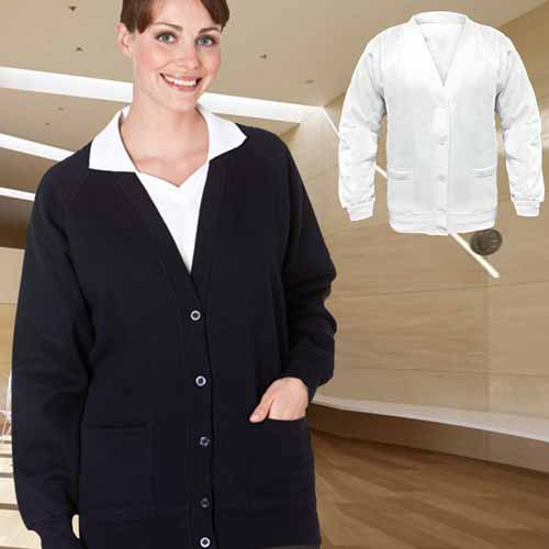 315gsm 70/30CP Button-Front Sweat Cardigan - TCA01-main